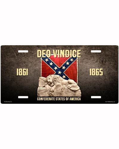 Deo Vindice Confederate Lion car tag